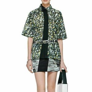 NWT-KENZO PARIS Layered PERFORATED BELTED